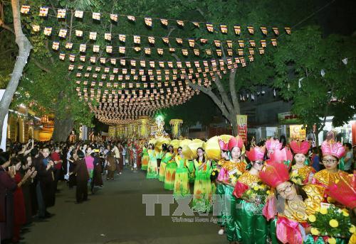 Lễ rước Xá lợi Phật kính mừng Đại Lễ Phật đản PL 2561 - DL 2017 tại Thủ đô Hà Nội