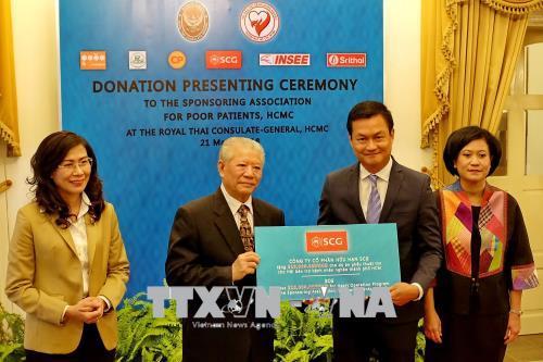 Tổng lãnh sự quán Thái Lan hỗ trợ hơn 1 tỷ đồng cho chương trình phẫu thuật tim bẩm sinh và đem lại ánh sáng cho người mù nghèo