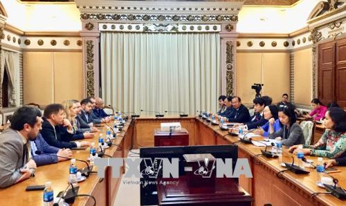Lãnh đạo Thành phố Hồ Chí Minh tiếp Chủ tịch Nhóm Nghị sỹ Hữu nghị Ucraina-Việt Nam